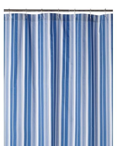 Blissliving Home Cynthia Stripe Shower Curtain, Blue/White