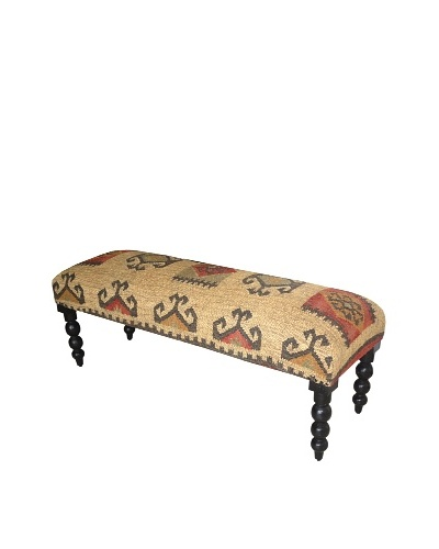 Boheme Collection Wooden Bench , Multi