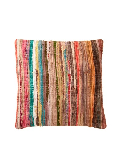 Boheme Collection Woven Striped Throw Pillow, Multi