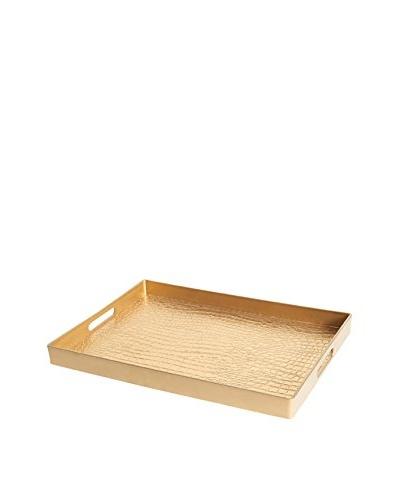Bombay Company Gator Skin Tray, Gold