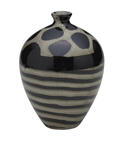 Bombay Company Round Ceramic Giraffe Vase, Brown