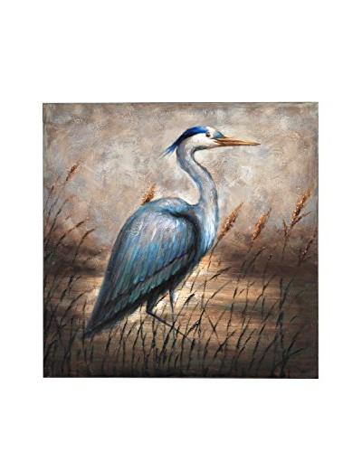 Bombay Company Blue Egret Canvas Art