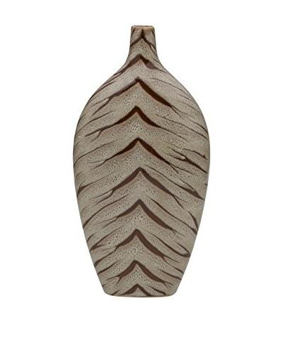 Bombay Company 15 Ceramic Tiger Vase, Brown