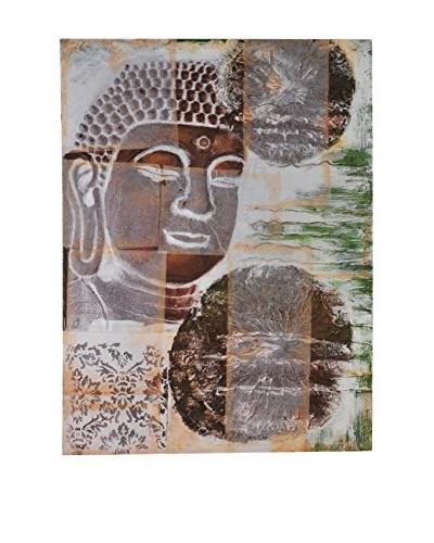 Bombay Company Bronze Buddha Painted Canvas