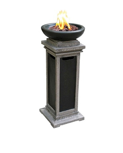 Bond Ravenswood Column Firebowl with Lava Rock