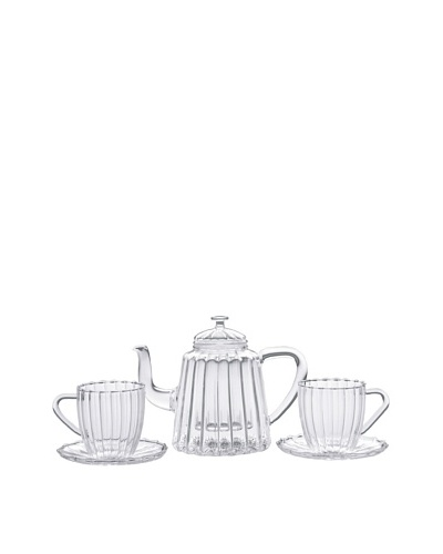 BonJour Coffee & Tea 42-Oz. Ribbed Teapot Set