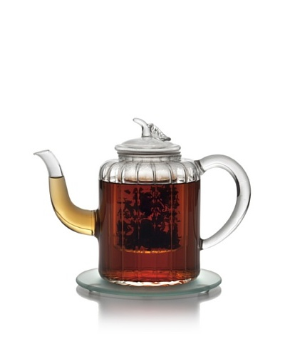 BonJour Glass Teapot 27-Ounce Adele Teapot with Glass Infuser