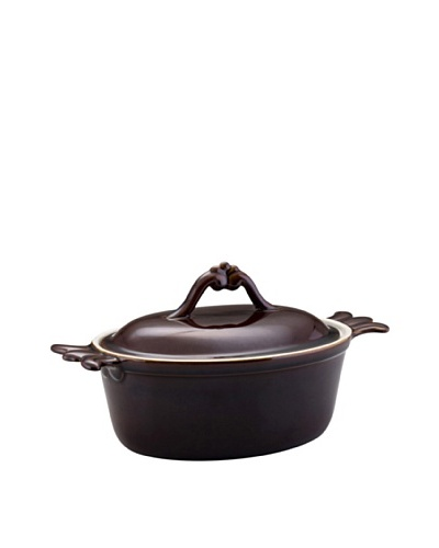 Bonjour Covered Round Casserole [Chocolate Brown]