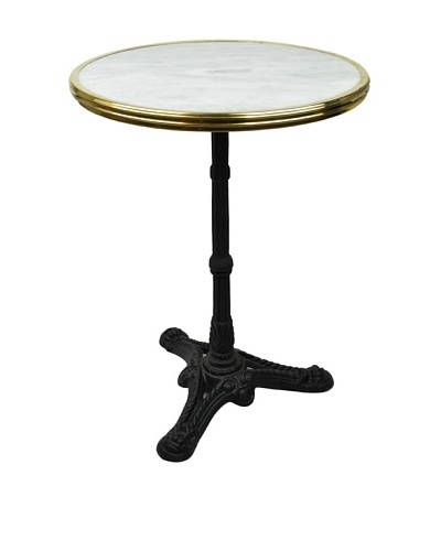 Bonnecaze Absinthe & Cuisine French-Style Marble and Iron Bistro Table
