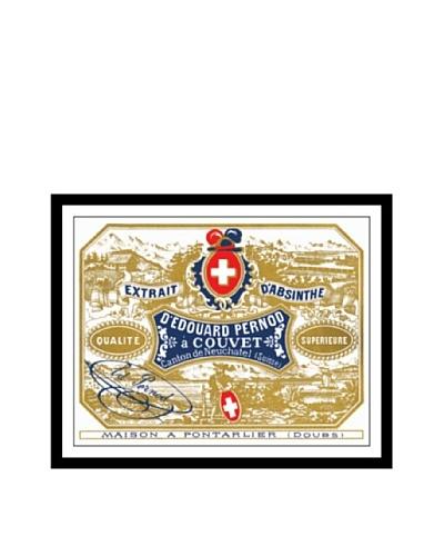 Bonnecaze Absinthe & Cuisine Edouard Pernod Absinthe Distillery Label Print