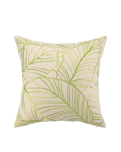 "Brejer Hanalei Embellished Down Pillow, Green, 18"" x 18"""