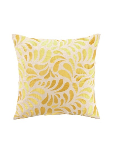 Brejer Montecito Swirl Embellished Down Pillow, Yellow, 18 x 18As You See