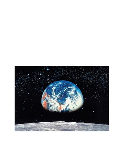 Brewster home for Earth moon wall mural