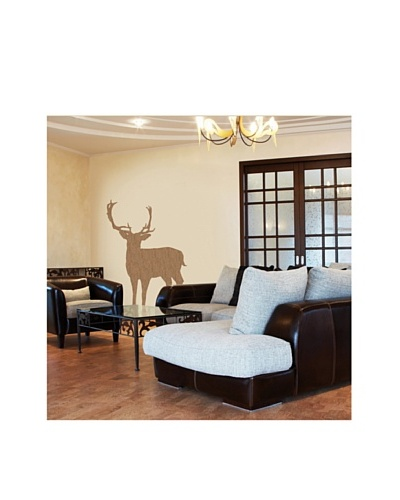 Brewster Wall Covering Deer Natural Cork Deluxe Wall Sticker