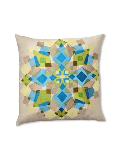 Trina Turk Embroidered Kaleidoscope Pillow