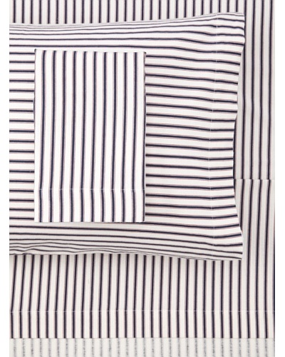 Tommy Hilfiger Ticking Stripe Flannel Sheet Set