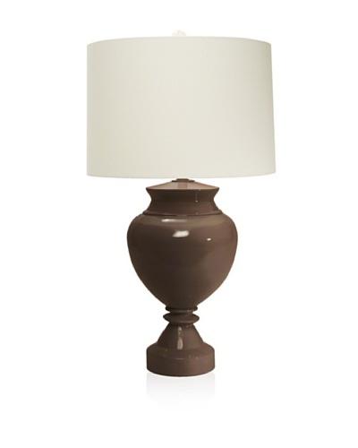 Aqua Vista Lighting Brompton Spun Bamboo Table Lamp, Chocolate