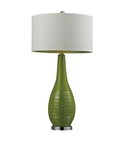 HGTV Home Bright Green Ceramic Table Lamp