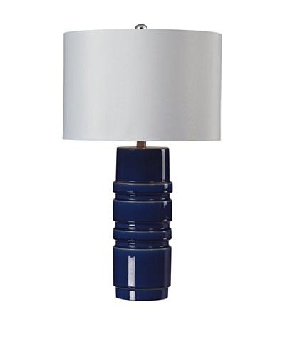 HGTV Home Sapphire Blue Glaze Ceramic Table Lamp