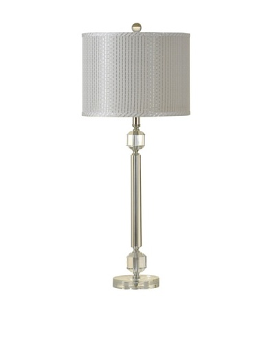StyleCraft Lucid Clear Crystal Barbell Table Lamp
