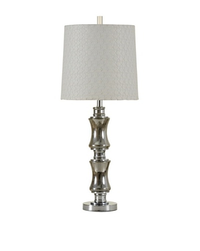StyleCraft Chrome & Smoked Plated Glass Table Lamp