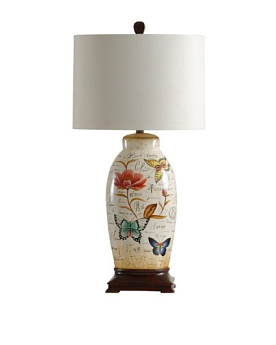 StyleCraft Hand Painted Ceramic Table Lamp
