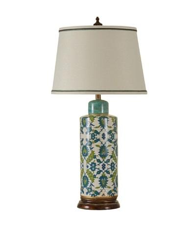 StyleCraft Hand Painted Vine Design Table Lamp
