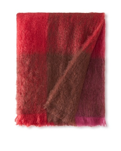 BRUN DE VIAN-TRIAN Mohair Throw, Carreaux