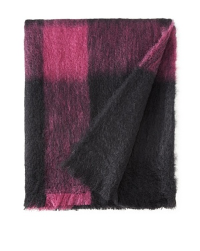 BRUN DE VIAN-TRIAN Mohair Throw, Noir/Violette
