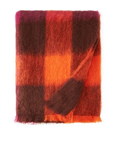 BRUN DE VIAN-TRIAN Mohair Throw, Ethnique