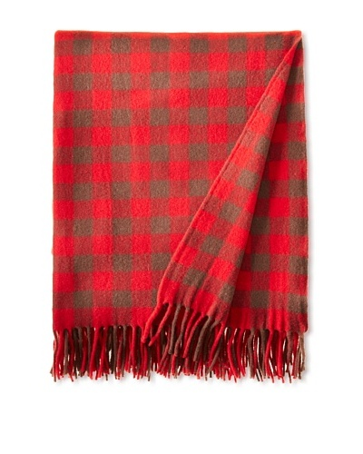 BRUN DE VIAN-TRIAN Merino Plaid Throw, Grand Gardian