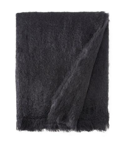BRUN DE VIAN-TRIAN Mohair Solid Throw, Noir