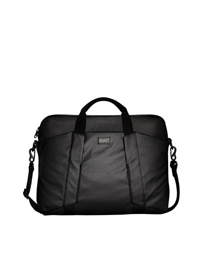 "BUILT City Collection 16"" Slim Laptop Bag, Black"