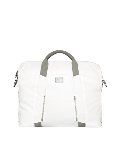 BUILT City Collection 16 Slim Laptop Bag, Off-White