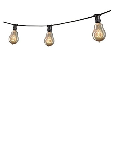Bulbrite 25' Mini Light String, Black/Antique Amber