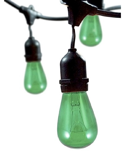 Bulbrite Celebrate Ceramic 15-Light Indoor/Outdoor String, Green
