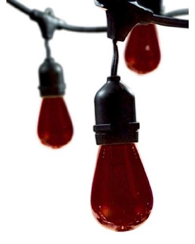 Bulbrite Celebrate Ceramic 15-Light Indoor/Outdoor String, Red
