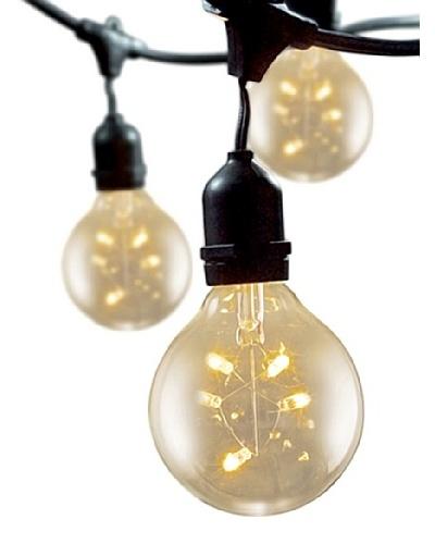 "Bulbrite Starlight 3"" Globe 15-Light Indoor/Outdoor String, Clear"