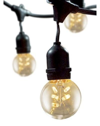 Bulbrite Starlight 2 Globe 15-Light Indoor/Outdoor String, Clear