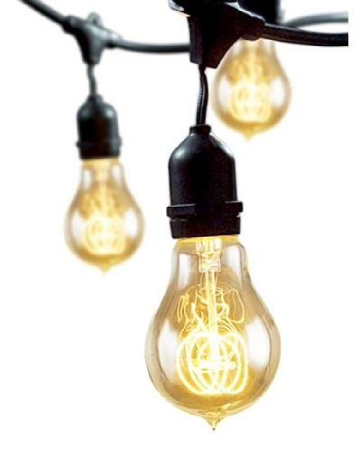 Bulbrite Nostalgic Loop Series 15-Light Indoor/Outdoor String, Vintage Amber