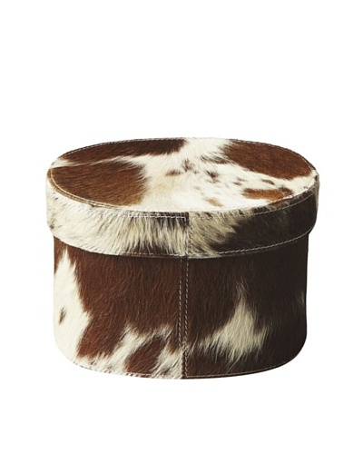 Butler Specialty Co. Hair-on-Hide Oval Storage Box, Small
