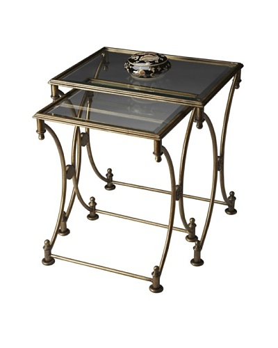 Butler Specialty Company Park Antique Gold Nesting Tables