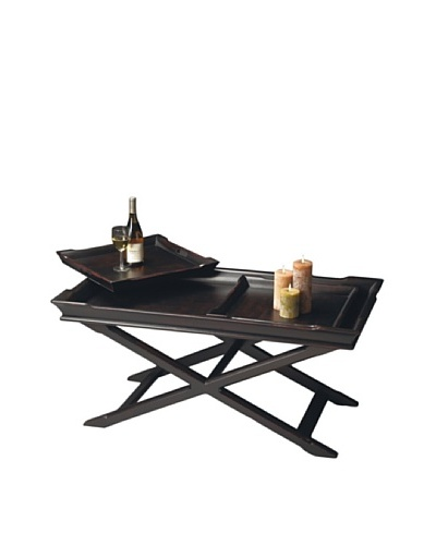 Butler Specialty Company Tray Cocktail Table, Plum Black