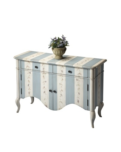 Butler Specialty Company Chest, Bordeaux Stripe