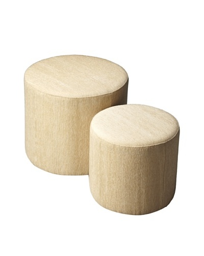 Butler Specialty Company Nesting Ottomans, Ivory