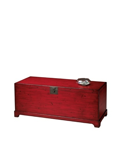 Butler Specialty Company Cocktail Trunk, Distressed RedAs You See