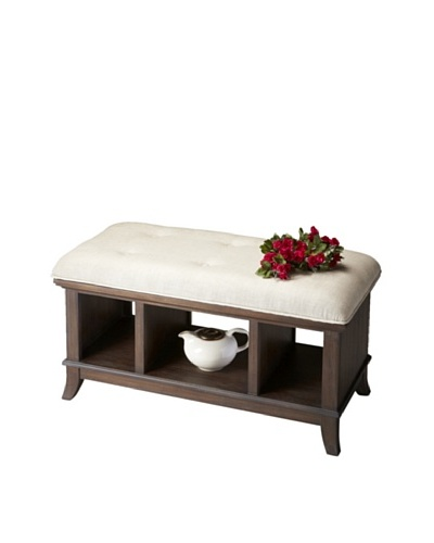Butler Specialty Company Storage Bench, Cocoa