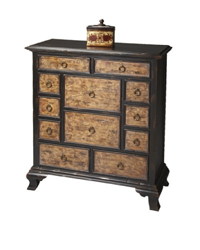 Butler Specialty Company Connoisseur's Drawer Chest, Ebony/Maple