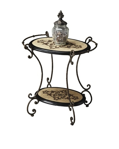 Butler Specialty Company Oval Accent Table, Cream/Black