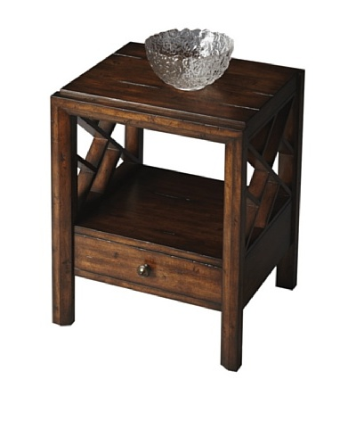 Butler Specialty Company Mountain Lodge Side Table, Rustic Wood
